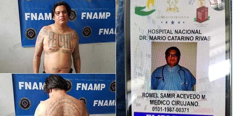 """José Modesto Reyes Silva (34), alias """"Yonster"""" o """"Ráfaga"""", pandillero de la 18, se hacía pasar como médico cirujano."""