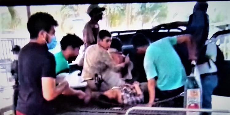 Los heridos fueron llevados hasta un centro asistencial donde lamentablemente expiró Pablo Dubón.