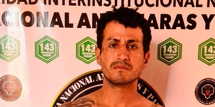 """""""El Lágrima"""" fue detenido por agentes de la FNAMP, en una colonia de la periferia de la ciudad de Choluteca."""