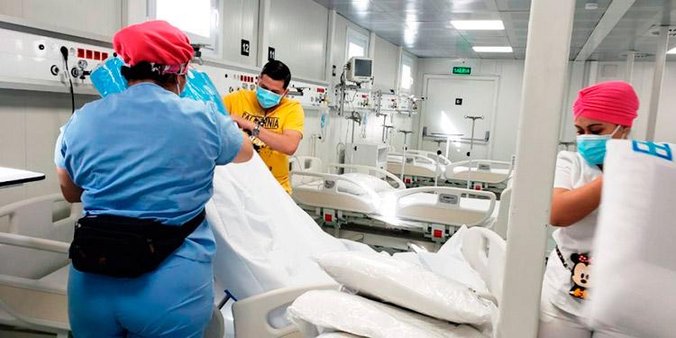El COVID-19 ha ido incrementando en los últimos días, por lo que los hospitales modulares mitigan esta situación.