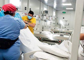 Hospital modular de Tegucigalpa atiende a 7 pacientes con COVID-19