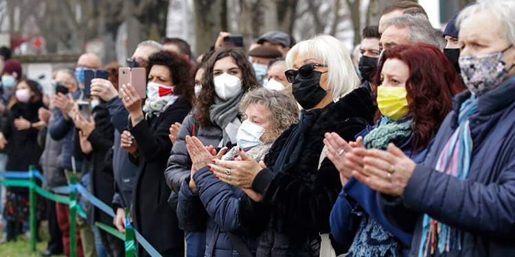 Italia conmemora el primer aniversario de la llegada del COVID-19
