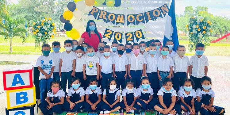 Promoción de jardines de niños en el 2020, en Catacamas, Olancho.