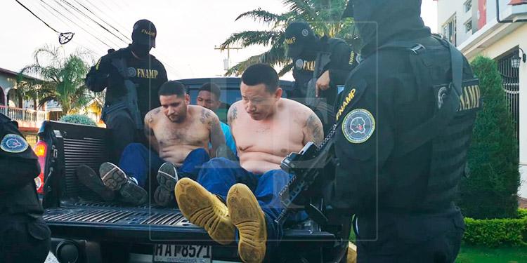 Capturan a 4 miembros de la Pandilla 18 en La Ceiba