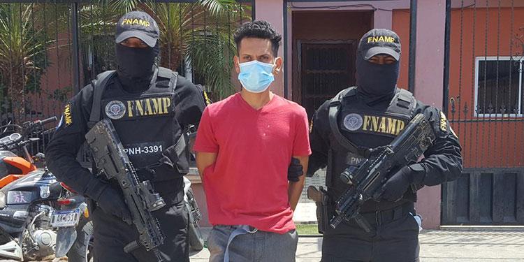 El detenido fue remitido ante las autoridades judiciales de la ciudad de Choluteca.
