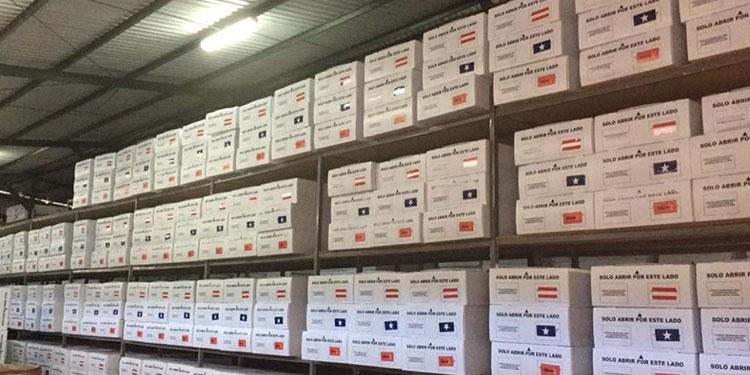 Los Kit de bioseguridad de las MER ya están listos en las bodegas de Infop.