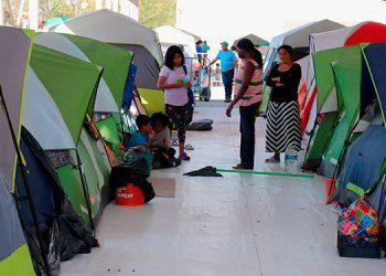 Los migrantes del campamento Matamoros, en México, acogidos al MPP, podrán tramitar su asilo de forma virtual.