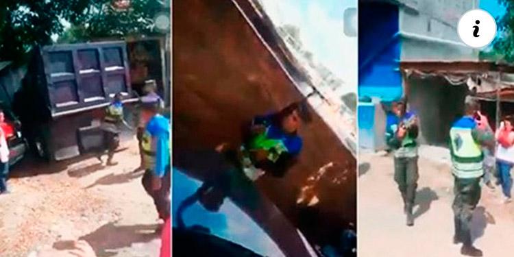 """El homicidio cometido por el efectivo militar quedó captado en video; la víctima que recibió un """"fusilazo"""" en la pierna."""