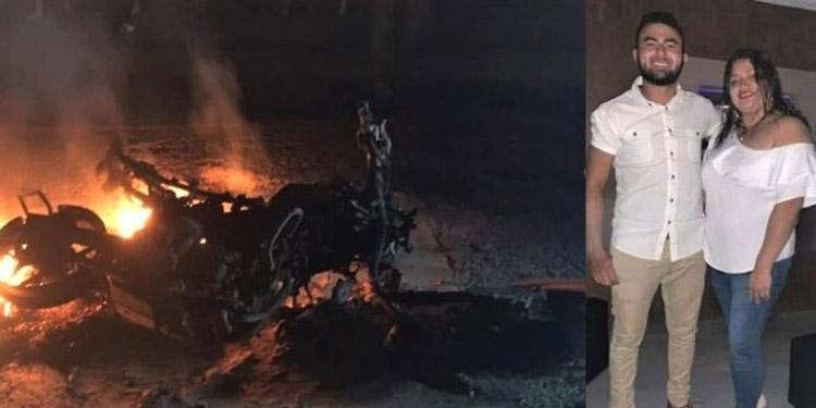 Los hermanos Eddy y Cinthia Rodríguez Antúnez fallecieron cuando la motocicleta en que se transportaban se incendió al chocar contra un vehículo en Sonaguera.