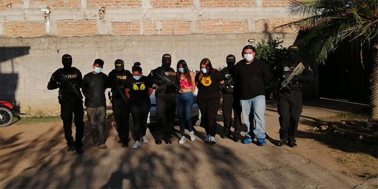 Los cinco detenidos son supuestamente miembros activos de la pandilla 18 y los capturó la FNAMP en Comayagua.