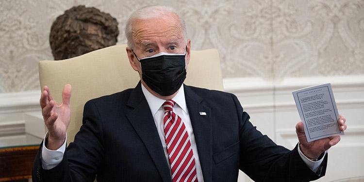 El presidente de EE. UU., Joe Biden, habló con el primer ministro israelí, Benjamín Netanyahu, en la primera llamada telefónica que ambos mantienen desde que el demócrata asumió el cargo el pasado 20 de enero. (LASSERFOTO AFP)