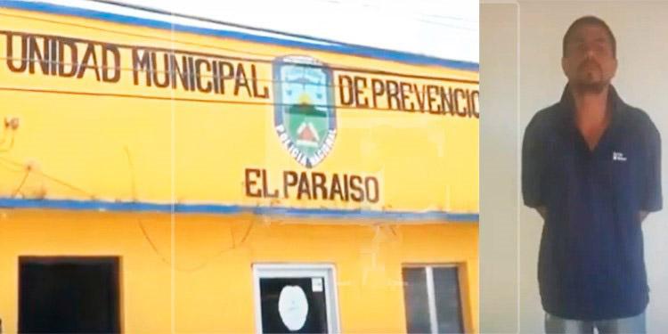 Del interior de esta estación policial se escapó el peligroso criminal (foto inserta).
