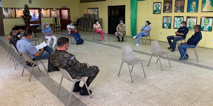 Participan el Cuerpo de Bomberos, Salud, Cruz Roja, alcaldía, Primer Batallón de Ingenieros, entre otras instituciones.