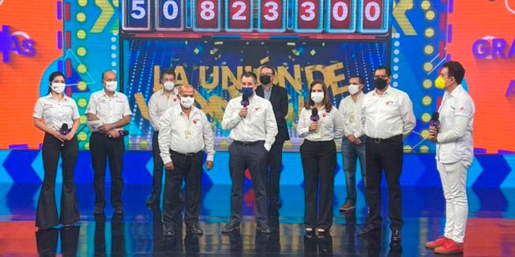 El donativo del Banco Atlántida fue por cuatro millones 25,150 lempiras.