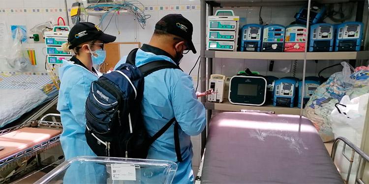 ATIC realiza inspección de ventiladores mecánicos en el Hospital El Tórax