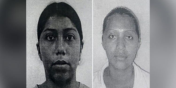 Las dos hermanas Yoselin Iveth y Suamy Escarleta Godoy Sánchez, ultimadas en la Villa Cristina.