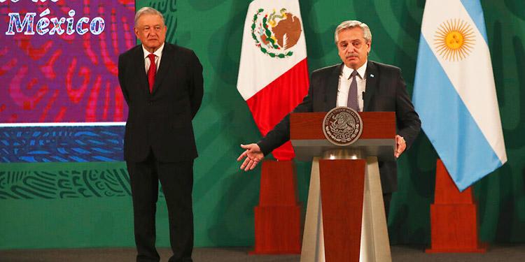 Argentina pide apoyo a México para que vacuna sea bien global