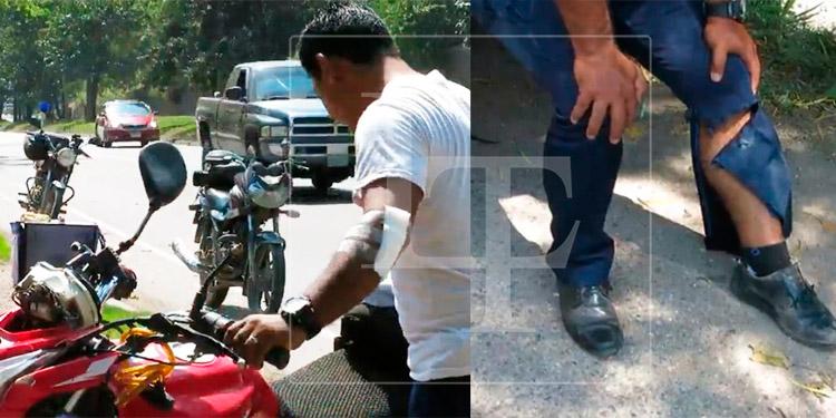 Ciclista se lanza contra motocicleta tras discutir con su pareja en Villanueva, Cortés