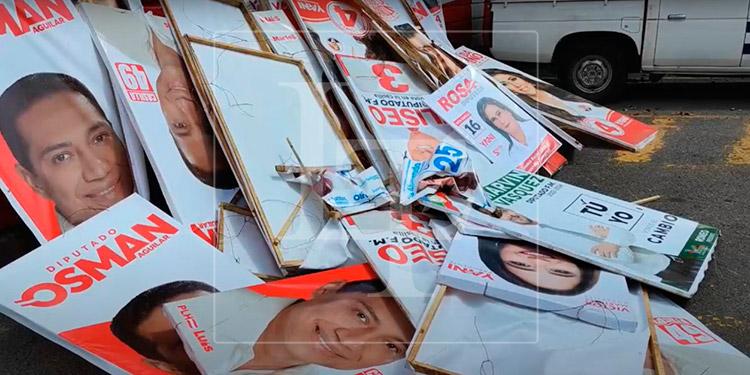 ENEE quita publicidad política de los postes de luz