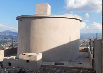 AMDC continúa construyendo tanques de almacenamiento de agua