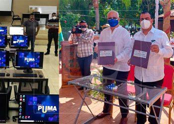 UNAH-VS inaugura aula tecnológica en Santa Cruz de Yojoa