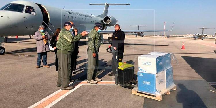 FFAA: Jet con vacunas donadas por Israel, aterrizará mañana en Tegucigalpa