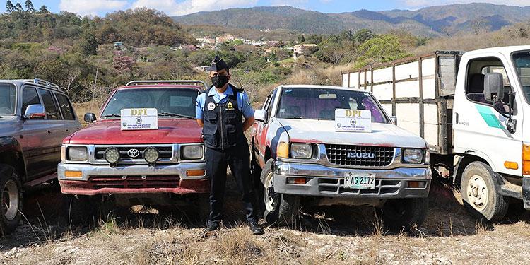 Los automotores fueron localizados en diferentes sectores del país, con reportes de robo en El Salvador, Guatemala, Nicaragua y Panamá.