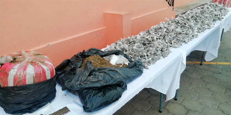Solo en el sector de El Picachito se decomisó una droga valorada en más de 200 mil lempiras.