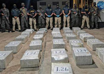 Los kilos de cocaína fueron transportados ayer a Tegucigalpa para su correspondiente incineración.