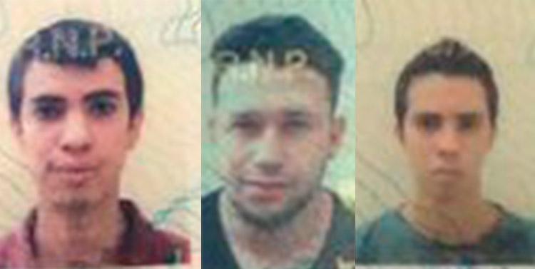 Eduardo René Bonilla Flores, Ricardo Alejandro Bonilla Flores y José Aguilera Zúniga.