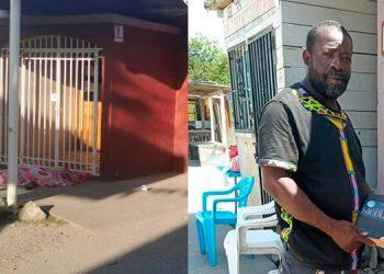 El presidente del patronato, Martín Pandy (foto inserta), fue atacado a balazos en el centro comunal de Corozal, Atlántida, y expiró cuando era trasladado a un centro asistencial de la zona.