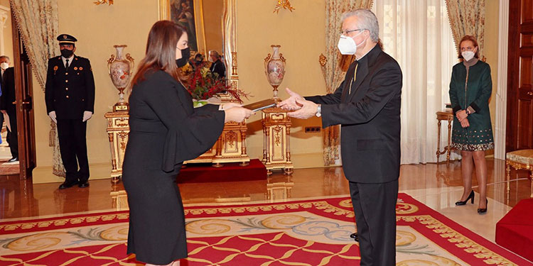 María Dolores Agüero está acreditada como embajadora de Honduras en España y concurrente ante el Principado de Andorra.