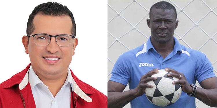 Erick Mejía (candidato alcalde PL, Texiguat), Eduardo Bennett (candidato a diputado, FM).