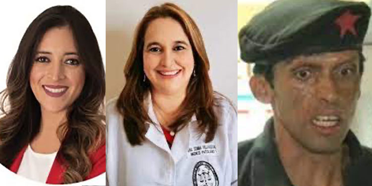 Hortensia Zelaya, Julissa Villanueva, Pedro Joaquín Amador.