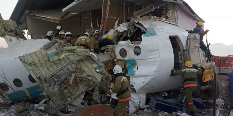 Accidente aereo en Kazajistan