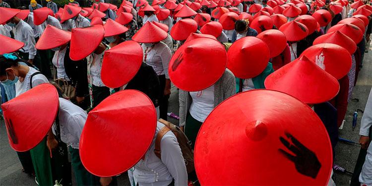 Fallecen 34 manifestantes en Myanmar tras represión