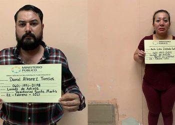 Daniel Álvarez Turcios y Martha Lidia Zepeda Castellanos acusados del delito de lavado de activos y tenencia ilegal de armas.