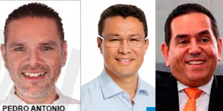 Pedro Chávez, Ebal Díaz y Toño Rivera.