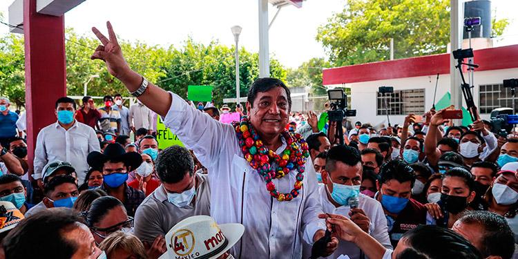 El partido del presidente Andrés Manuel López Obrador confirmó a Félix Salgado como candidato a gobernador, pese a protestas nacionales por el hecho de que dos mujeres lo acusaron de violación. (LASSERFOTO EFE)
