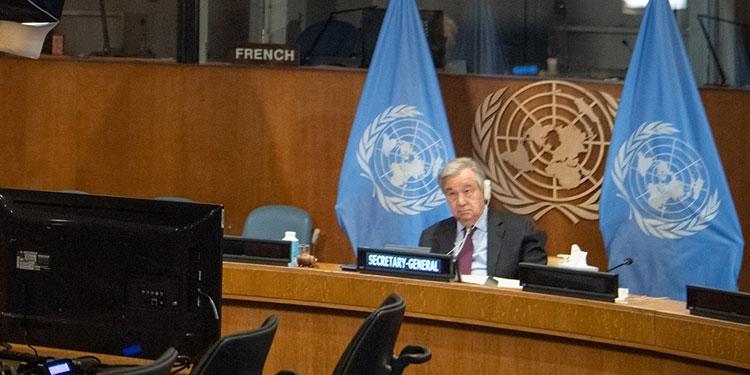 """El secretario general de la ONU, Antonio Guterres, llamó a la comunidad internacional a implementar """"un nuevo mecanismo"""" para aliviar la deuda de los países más pobres.    (LASSERFOTO EFE)"""