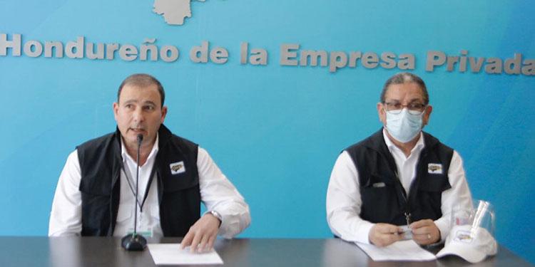 El presidente del Cohep, Juan Carlos Sikaffy y el director ejecutivo, Armando Urtecho llamaron al CNE agilizar el conteo de votos y dar resultados confiables y transparentes.