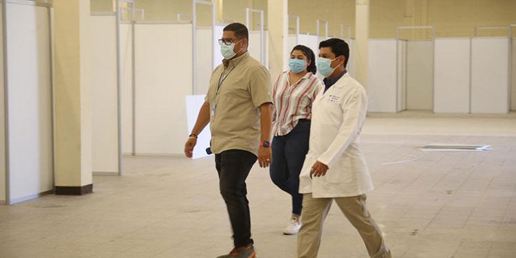 El tercer centro de triaje ampliará la capacidad de atención de pacientes con COVID-19 en San Pedro Sula.
