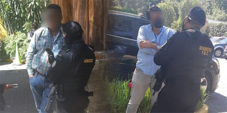 El Ministerio Público coordinó con @PNCdeGuatemala  la aprehensión con fines de extradición de Alfonso Rustrián de 34 años y de Adalberto Fructuoso Comparan Rodríguez de 57 años, ambos ciudadanos mexicanos. @MPGuatemala