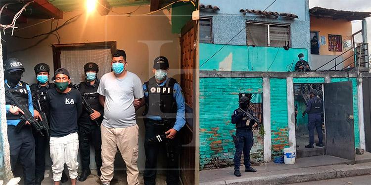 Caen dos presuntos miembros de la banda 'Los Berrios' durante operativo en Tegucigalpa
