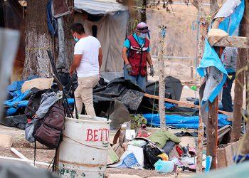Desmantelan campamento en México pero migrantes llegan para cruzar a EEUU