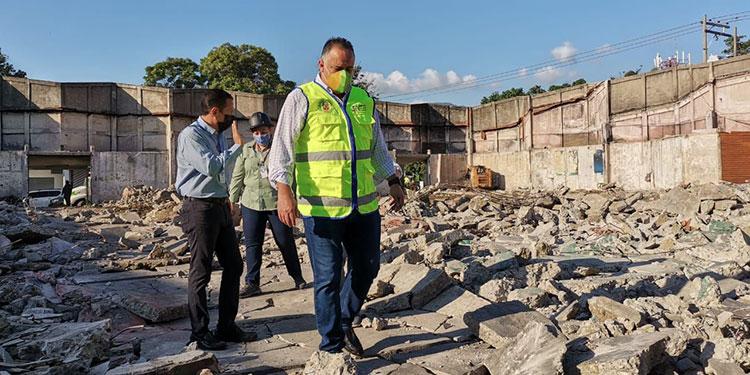 El alcalde Calidonio informó que la obra estará lista y entregada en febrero del año 2022.