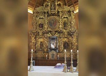1 El bellísimo retablo franciscano tallado en Guatemala