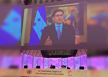 Presidente Hernández llama a la comunidad internacional a unirse contra las maras y pandillas