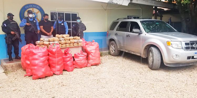 Solicitarán detención judicial para hombre por transportar 502 paquetes de marihuana en Juticalpa