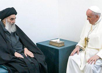 El Papa y alto clérigo chií de Irak sostienen reunión histórica